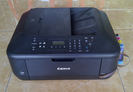 Printer Bekas Canon Pixma MX377+Infus Print Scan Copy Fax