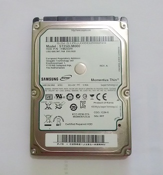 HDD Internal Bekas 2,5″ SAMSUNG 250Gb Sata 100% Normal