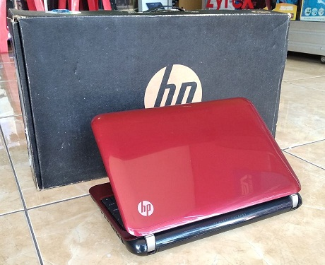 Notebook Second HP Mini 110 RED N2600 1-jutaan Malang