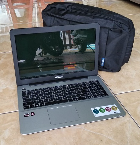 Laptop Bekas ASUS X555QG A12-9720P 7th Gen GAMER