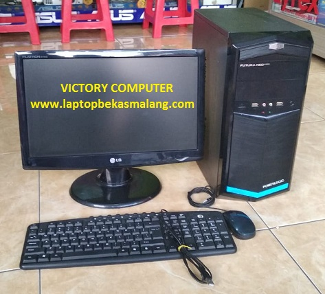 PC Komputer Second Gamer & Desain LED 20″ inci 2-jutaan