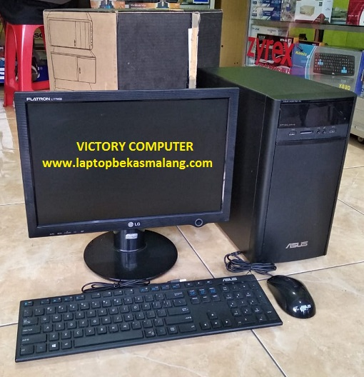 PC Builtup Bekas ASUS K31AD + LED 20″ inci Segel 2-jutaan